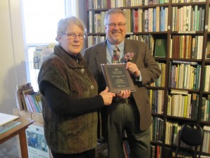 Mary Maguire Lerman and Kent Petterson at Terrace Horticultural Books.