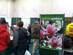 There were big crowds at the Northern Gardener bookstore.