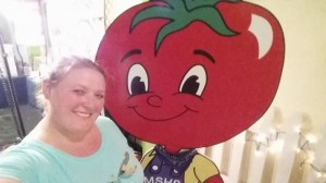 Everyone wants a selfie with a giant tomato!