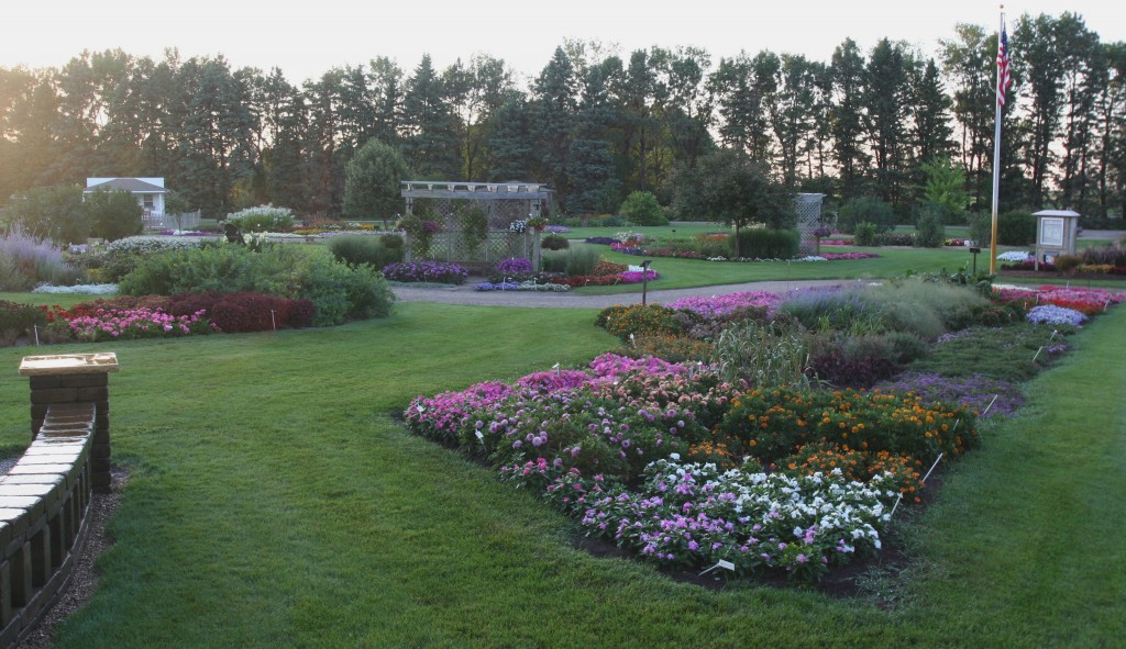A portion of the display gardens at the U of M campus in Morris