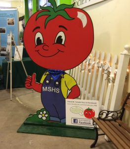 Look for Mr. Tomato Guy at the Dirt Wing to find the MSHS Booth.