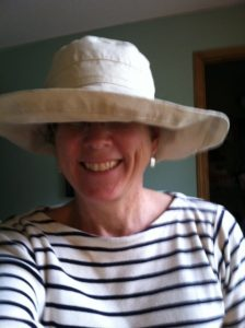 This hat was purchased from the Canadian hardware chain Lee Valley Tools and it has a sun protection factor of SPF 50. The light-weight fabric makes it extremely comfortable on very hot days.