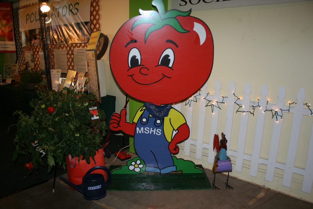 Our No. 1 volunteer -- Mr. Tomato Guy. He's always near our booth.