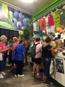 Folks lined up to sign up for membership at the Minnesota State Fair in August.