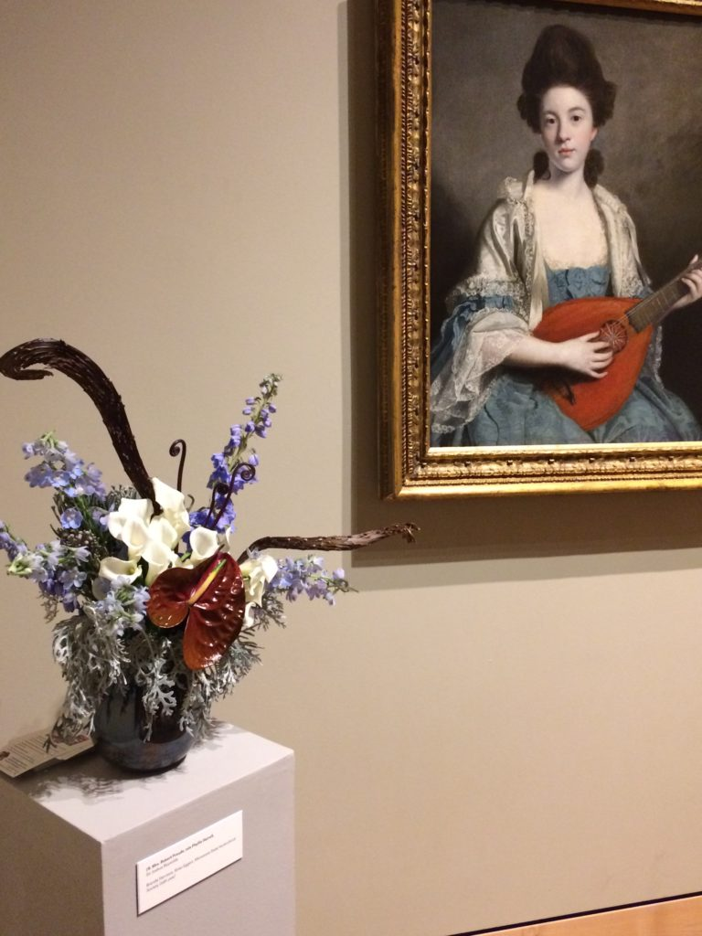 floral interpretation of portrait at art in bloom