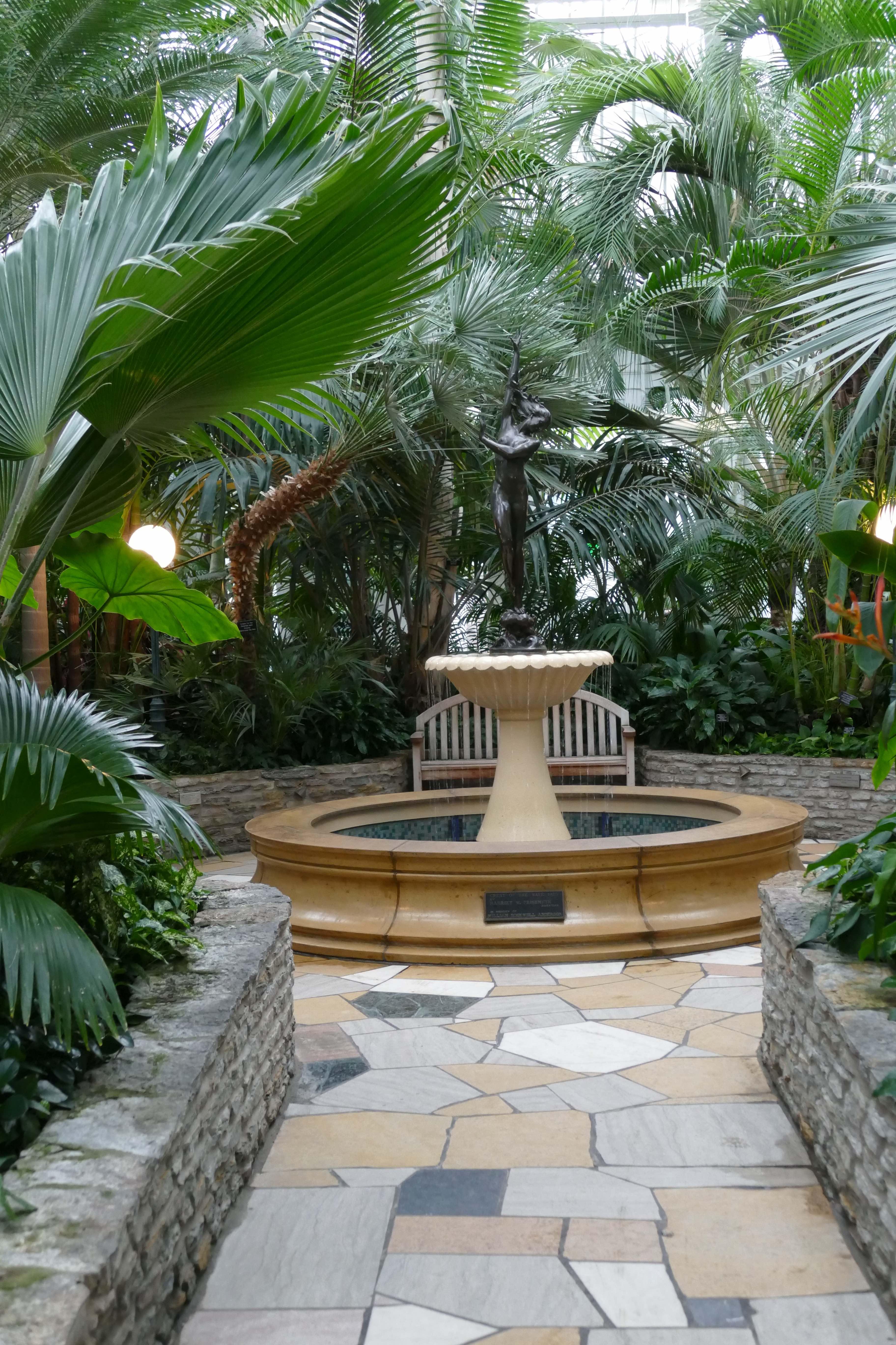 fountain in palm dome