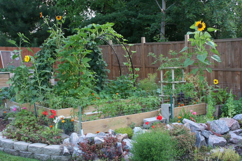 vertical vegetables arch