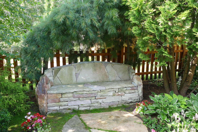 bench garden accessory
