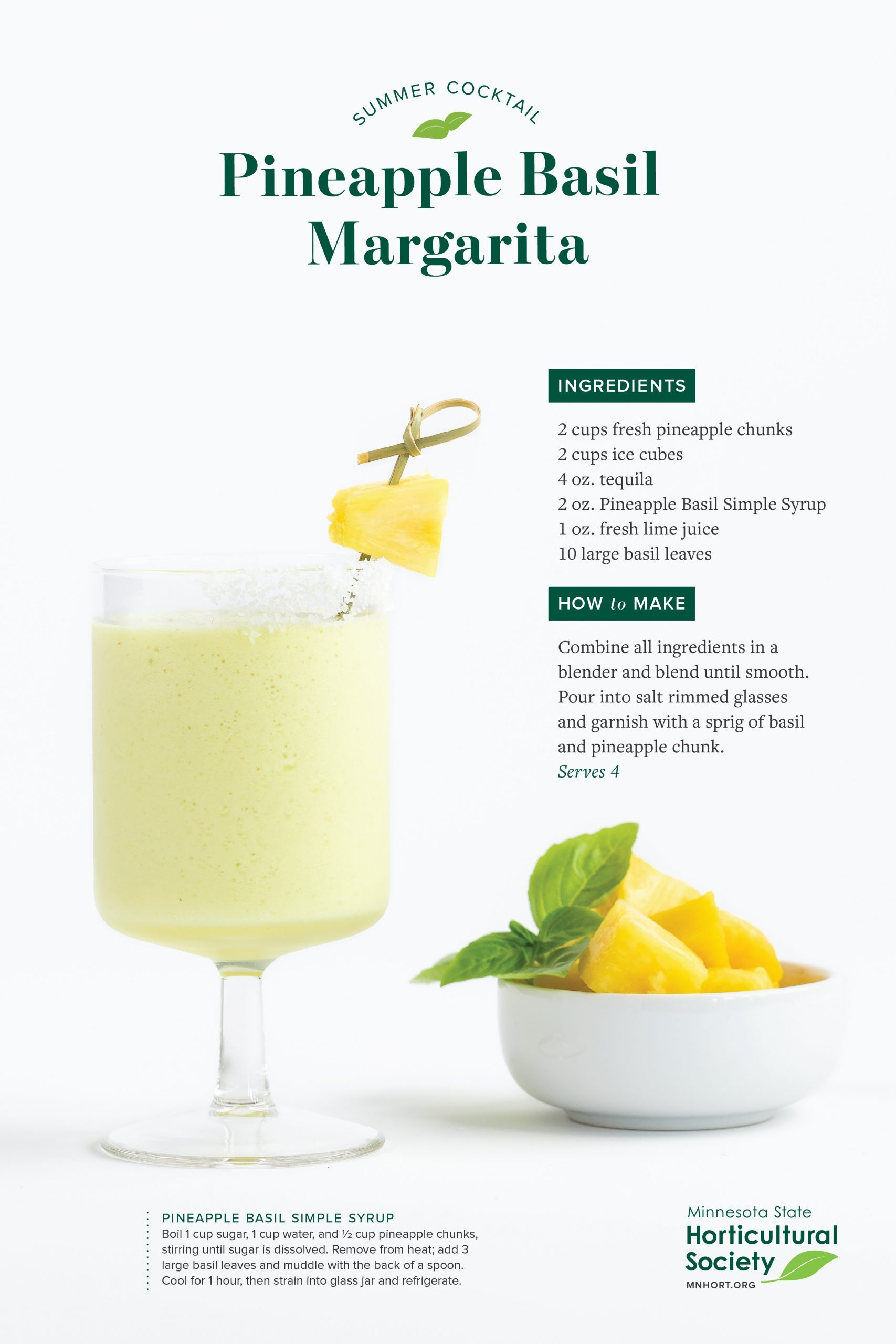 pineapple basil margarita