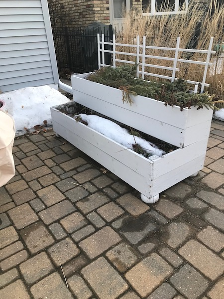 two level raised bed garden
