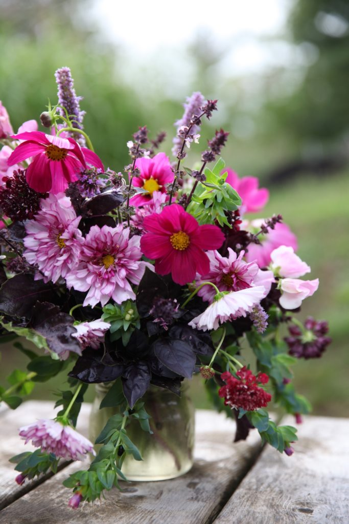 bouquet with annuals